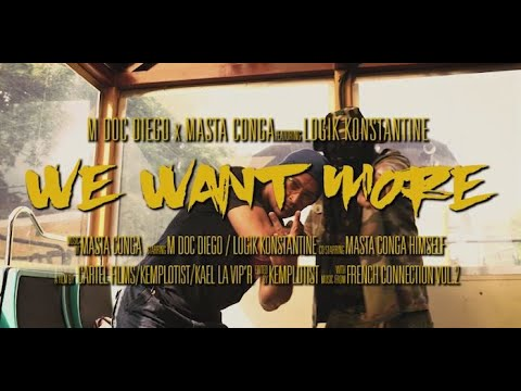 M Doc Diego & Masta Conga – We Want More Feat. Logik Konstantine (Official Video)  International Collab's (U.S.A / Europe, France)   M Doc Diego and Masta Conga are back with help from French emcee Logik Konstantine. They deliver We Wa ...
